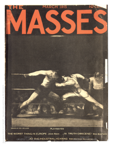 This issue of Max Eastman's The Masses features a cover by George Bellows.